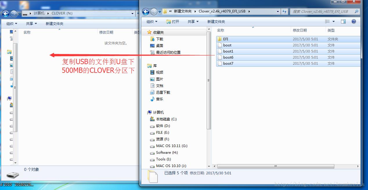 CLOVER文件复制