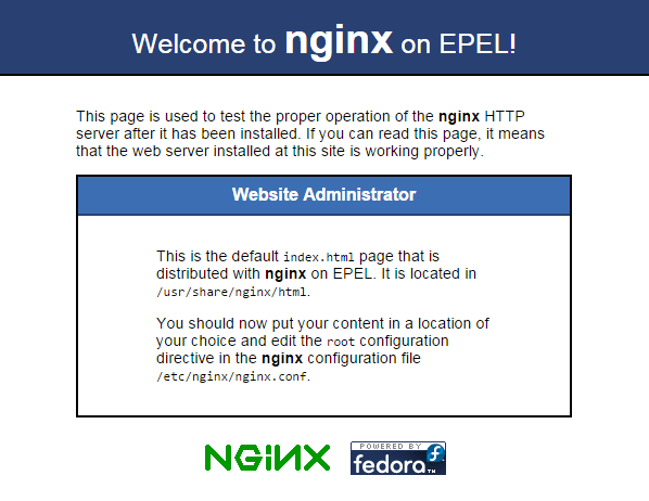 nginx-welcome