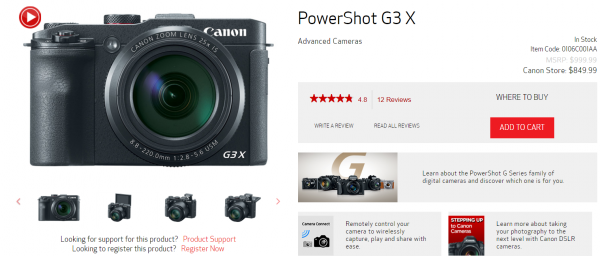 how to write a good product description that sells - canon powershot looks great