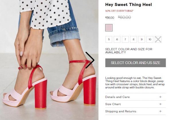 how to write a good product description that sells - nasty gal fun loving girlfriend tone