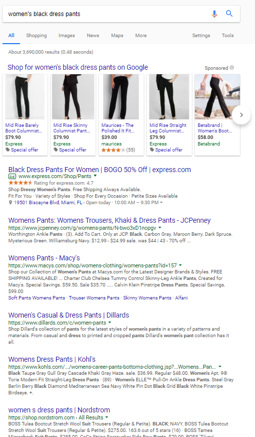 how to write a good product description that sells - search engine optimised womens dress pants